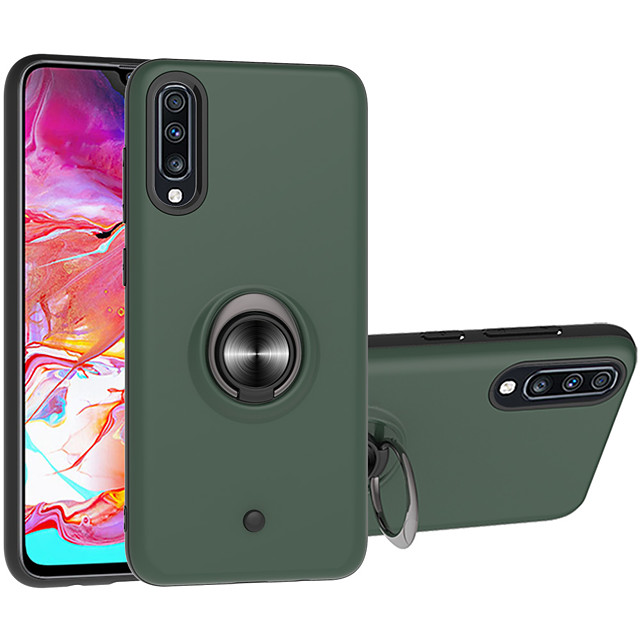 Case For Apple Samsung Galaxy A80 M20 M30 A40S A10E A20E A10S A20S M30S A90 S10 S10PULS S10E S9 S9PLUS NOTE 10 NOTE10PLUS NOTE10PRO Shockproof Ring Holder Back Cover Solid Colored TPU PC Metal