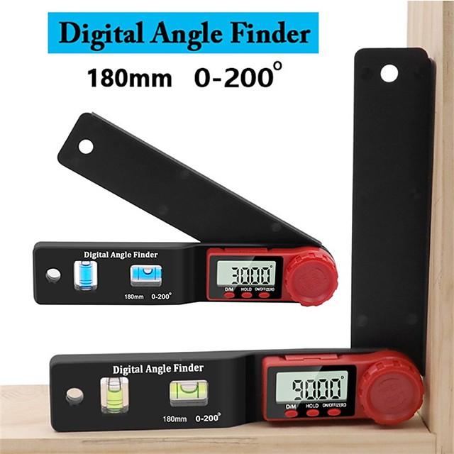 2 in 1 Mini Level Angle Ruler Protractor Carpenter's Angle Ruler Vernier Digital Display Caliper