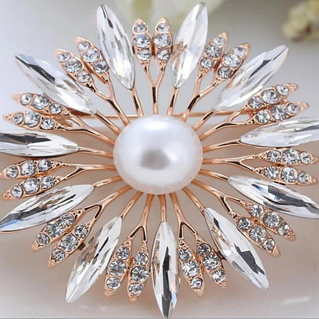 Alloy Brooches & Pins with Crystals / Rhinestones 1 Piece Wedding / Daily Wear Headpiece