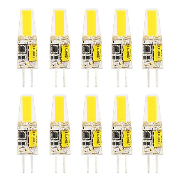 10pcs 6pcs 6 W LED Silica Gel Corn Lights LED Bi-pin Lights  G4 COB High Power LED Creative Party Decorative Crystal Chandelier Light source Energy-saving Light Bulbs Warm White White AC/DC12 V