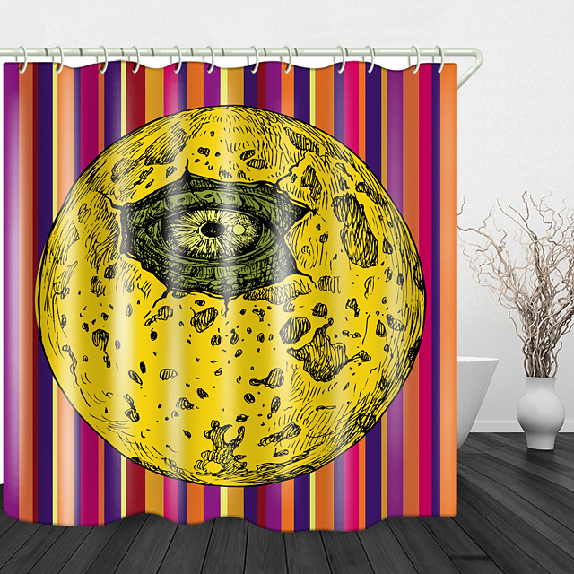 Devil's Eye Digital Print Waterproof Fabric Shower Curtain For Bathroom Home Decor Covered Bathtub Curtains Liner Includes With Hooks