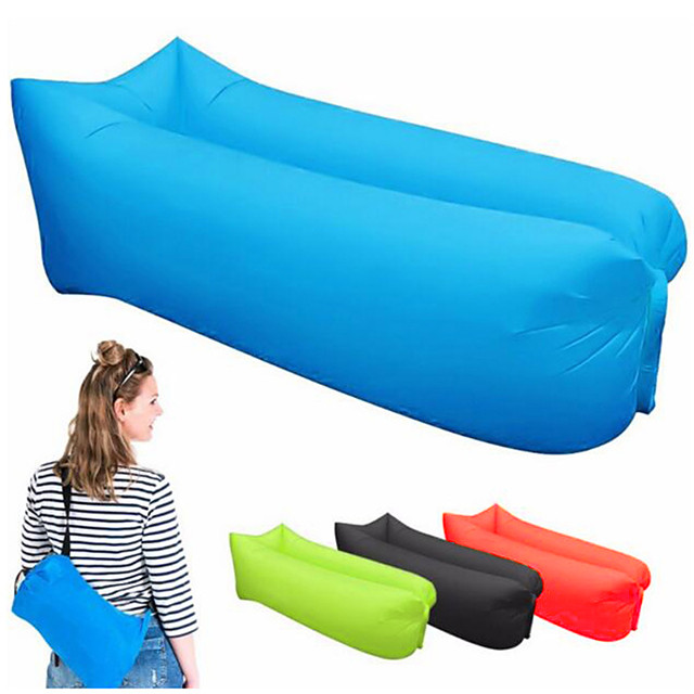 Air Bed Outdoor Camping Lightweight Wearable Reduces Chafing Seamless 100% Polyester for 1 person Beach Traveling Picnic Spring Summer Black Yellow Red