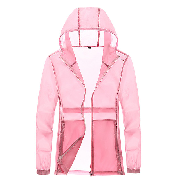 Women's Hiking Jacket Hiking Windbreaker Summer Outdoor Windproof Sunscreen Breathable Quick Dry Jacket Top Camping / Hiking Fishing Climbing White / Blue / Pink / Grey