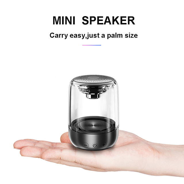 Bluetooth Speakers Mini Speaker Music Stereo HIFI Soundbox with LED Light Microphone for Smartphone PC C7