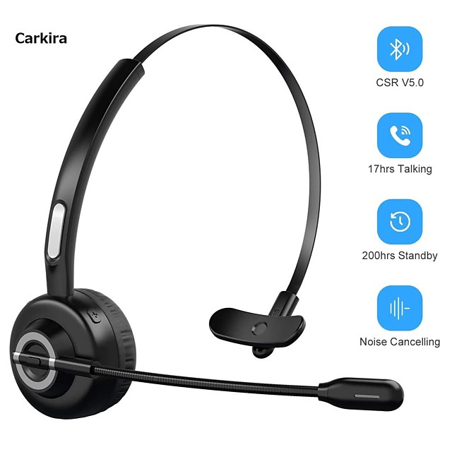 LITBest M97 Over-ear Headphone Wireless Bluetooth 5.0 with Microphone with Volume Control Sweatproof Smart Touch Control for Office Business