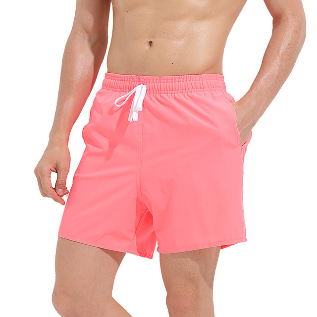 Men's Swim Trunks Elastane Bottoms Breathable Quick Dry Swimming Surfing Water Sports Solid Colored Summer / Stretchy