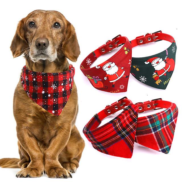 Dog Collar Bandana Cat Dog Bandana Large Pet Scarf Dog Bandana For Dogs Cotton Plaid Pet Bibs Towel Winter Pet Dog Bandana Pet Accessories 3