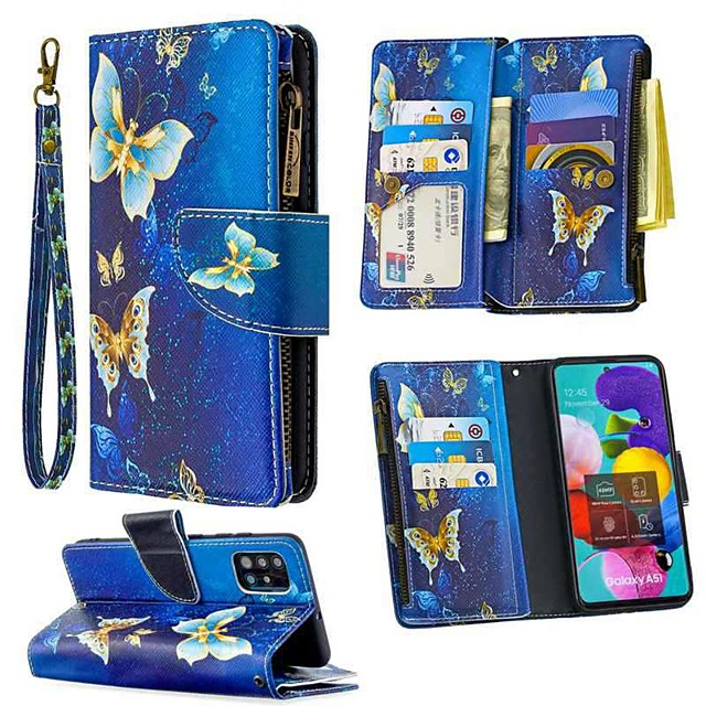 Case For Samsung Galaxy A51 A71 A70E A11 A21 A01 Note 10 Plus Wallet  Card Holder with Stand Full Body Cases Butterfly PU Leather For Galaxy M11 A31 A41 A81 A91 A30S A50S
