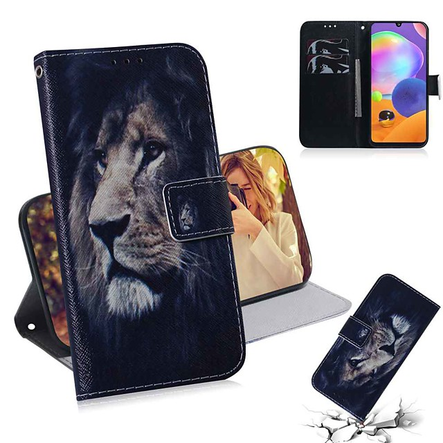 Case For Samsung Galaxy Galaxy S10 / Galaxy S10 Plus / Galaxy S10 E Wallet / Card Holder / with Stand Full Body Cases Animal PU Leather / TPU