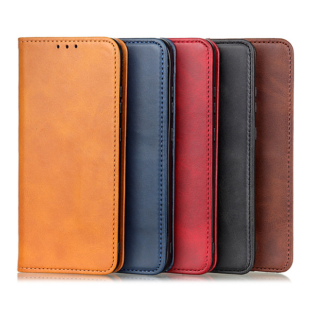 Case For Samsung Galaxy LG K40 K50S LG K61 Card Holder Shockproof Flip Full Body Cases Solid Colored PU Leather TPU MAGNETIC
