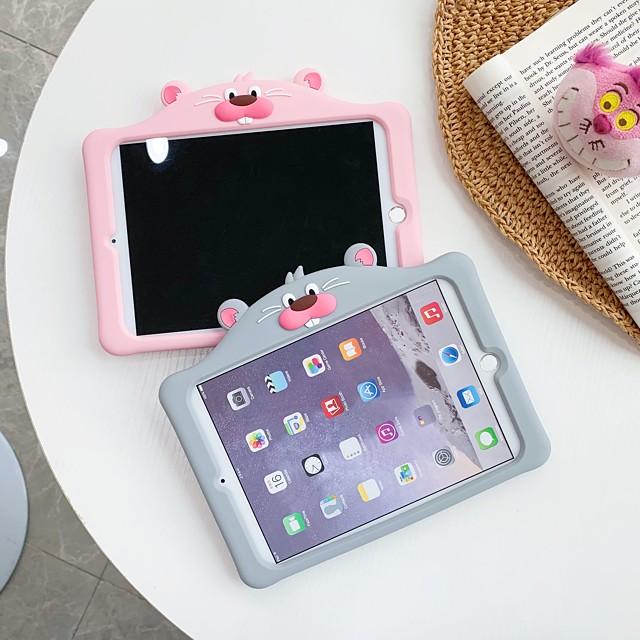 Case For Apple iPad 10.2 2019 iPad Air iPad Air 2 iPad Pro 12.9 iPad Pro 11 iPad Pro 10.5 iPad Pro 9.7 iPad 2 3 4 with Stand Pattern Back Cover Animal Cartoon Silica Gel