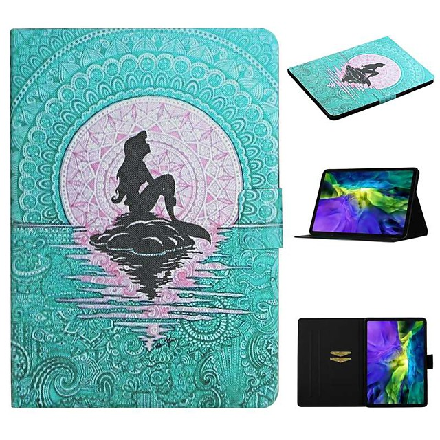 Case For Apple iPad 10.2 iPad Pro 11 2020 iPad Air 10.5 2019 Card Holder with Stand Pattern Full Body Cases Sexy Lady PU Leather iPad Mini 12345 2017 2018