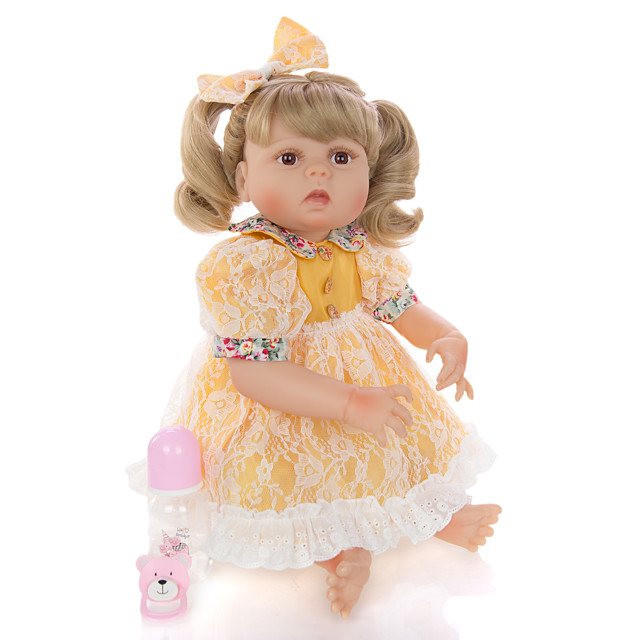 KEIUMI 22 inch Reborn Doll Baby & Toddler Toy Reborn Toddler Doll Baby Girl Gift Cute Washable Lovely Parent-Child Interaction Full Body Silicone 23D31-C145 with Clothes and Accessories for Girls