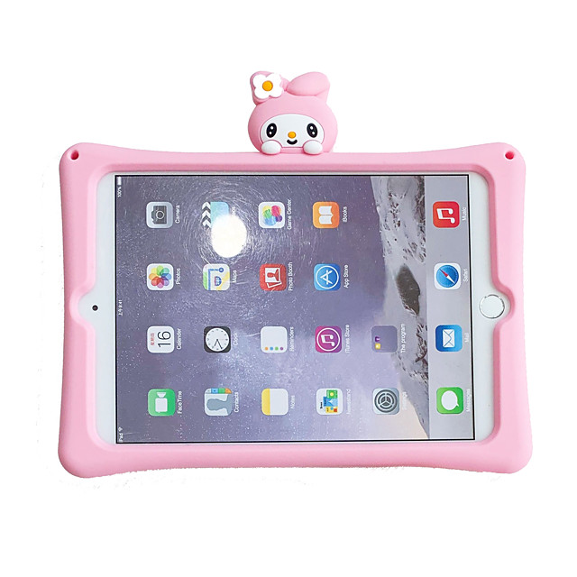 Case For Apple iPad 10.2 2019 iPad Air iPad Air 2 iPad Pro 12.9 iPad Pro 11 iPad Pro 10.5 iPad Pro 9.7 iPad 2 3 4 with Stand Pattern Back Cover Cartoon Silica Gel