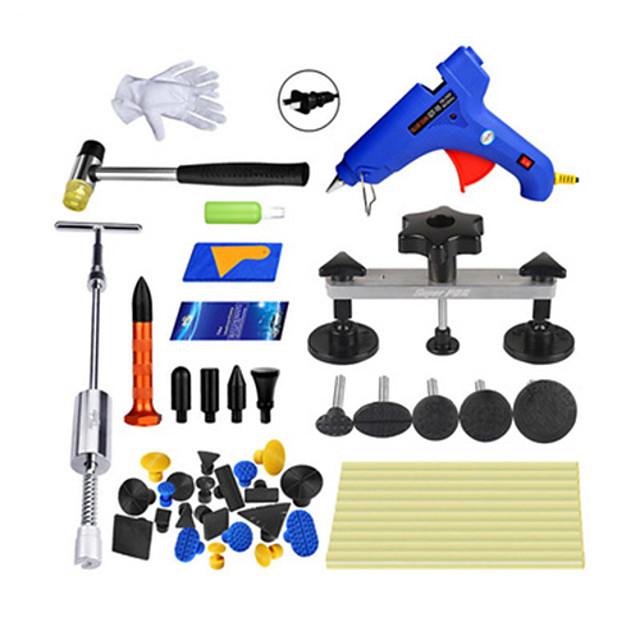 Professional Paintless Car Dent Repair Tool Dent Removal Dent Puller Tabs Dent Lifter PDR Tool Kit ToolKit Hand Tool Set GB2-PK13-CS-KT02