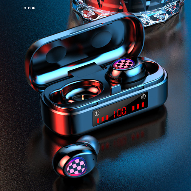 LITBest V7 True Wireless Headphones Compact Bluetooth 5.0 Earbuds Mini Stealth Small In-Ear Sports Running Ultra Long Standby Mobile Phone Universal