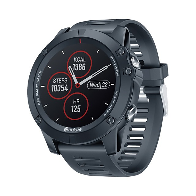 VIBE 3 GPS 1.3'' Full-round Touch Screen Built-in GPSGLONASS Dual Mode Positioning Multi-sport Mode 24-hour Heart Rate Blood Pressure O2 Monitor Weather Display Smart Watch