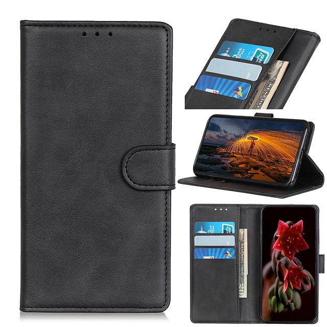 Case For  LG LG K10 2018 K30 K8 2018 K9 K40 K50 K30 2019 K40S K50S K20 2019 K41S K51S K61 K51 Card Holder Flip Magnetic Full Body Cases Solid Colored PU Leather TPU Vintage