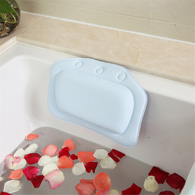PVC Spa Bath Pillow Soft Bathtub Headrest Neck Pillows Waterproof Nop-slip Suction Cup Cushion Bathroom Accessories