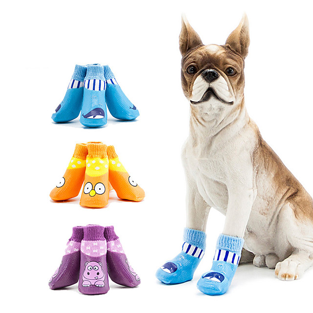 Dog Cat Boots / Shoes Waterproof Sports & Outdoors Casual / Sporty Sports and Outdoors For Pets Cotton Purple