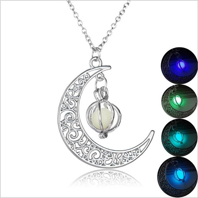 Pendant Necklace Men's Women's Luminous Purple Light Green Light Blue Green 2 45 cm Necklace Jewelry 1pc for Wedding Halloween Gift Carnival Prom