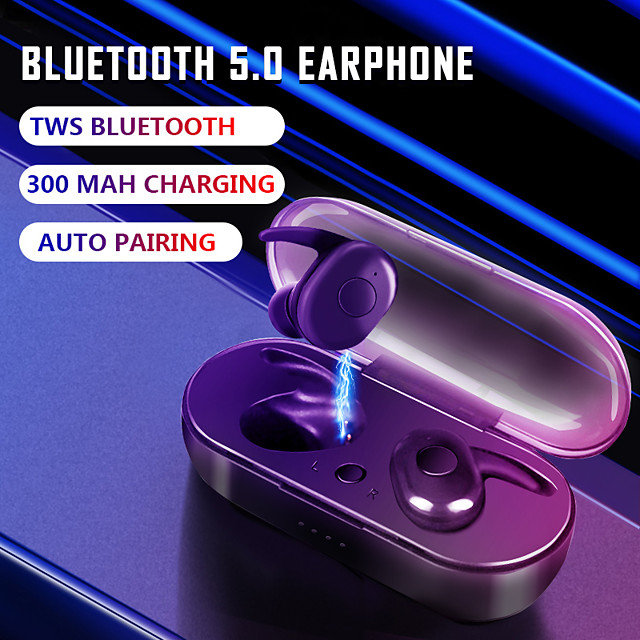 B1 TWS True Wireless Earbuds Auto Paring Bluetooth 5.0 Headphones With 300mAh Charging Box Sports In-Ear Stereo Mini Headset IPX7 Waterproof Earphones