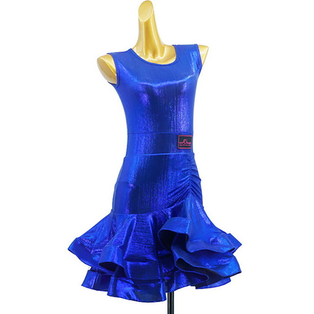 Latin Dance Dress Solid Girls' Training Daily Wear Sleeveless Cotton