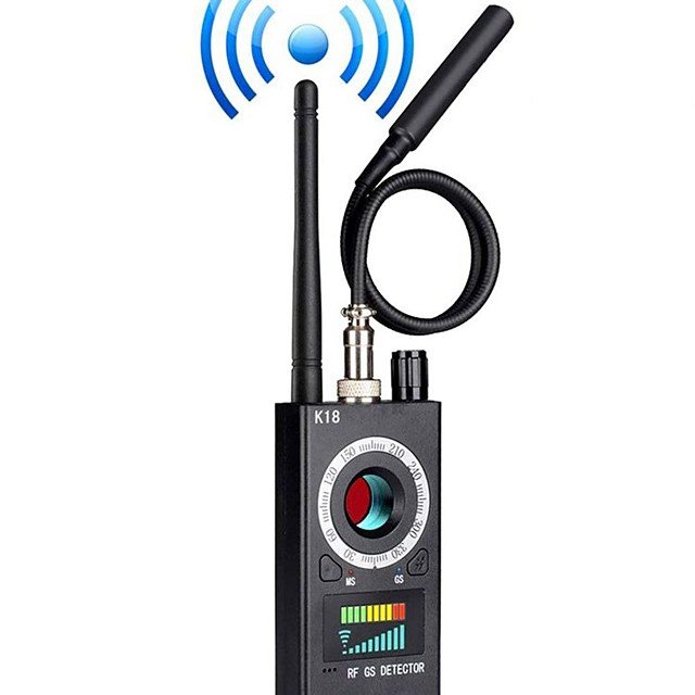 K18 Anti Detector Camera Finder Wireless Bug Detector for GPS Tracking GSM Listening Device Finder Radio Frequency RF Detector