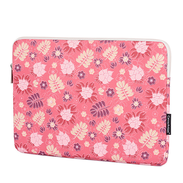 11.6 12 13.3 14.1 15.6 inch Universal Leaves Print Water-resistant shockproof Laptop Sleeve Case Bag for Macbook/Surface/Xiaomi/HP/Dell/Samsung/Sony
