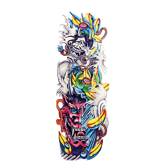 QB3041-3060 1 Pcs Full Arm Temporary TattoosTattoo Stickers Full Arm Tattoo Designs For MenWaterproof Tattoo Temporary Tattoo Arm