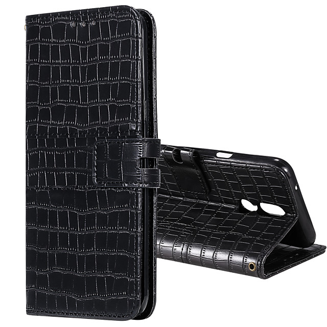 Case For LG G6 G7 STYLO4 STYLO5 K40 K50 Q60 Q70 Card Holder Flip Magnetic Full Body Cases Solid Colored PU Leather TPU CROCODILE PRINT