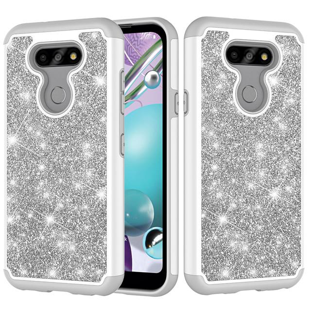 Case For  LG K30  LG K10 2018  LG K10 (2017) K8 2018  K9 Aristo 2  LV3(2018) Shockproof  Glitter Shine Back Cover Solid Colored  Glitter Shine TPU  PC