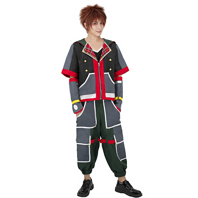 Inspired by Kingdom Hearts Sora Anime Cosplay Costumes Japanese Cosplay Suits Costume For Men's