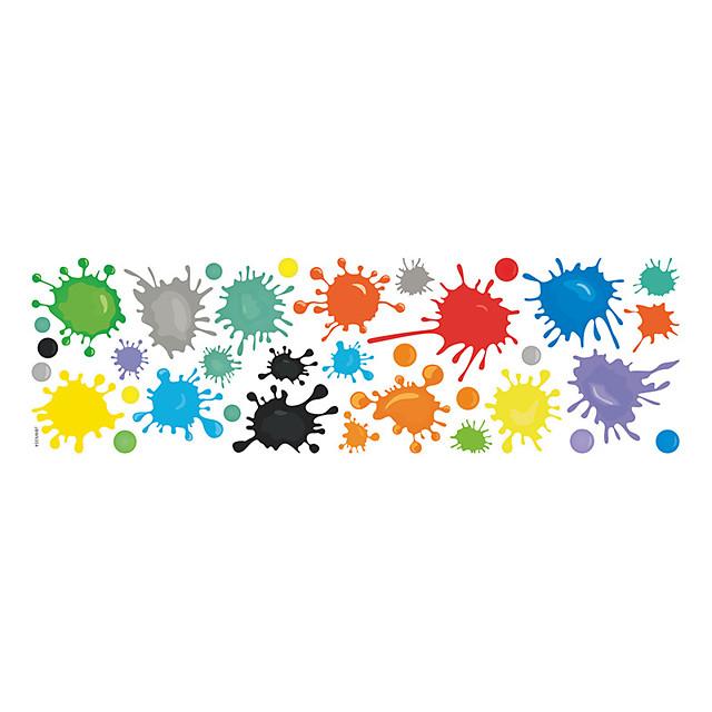 Creative Pigment Paint Graffiti Wall Sticker Kid Bedroom Room Wall Decoration Sticker