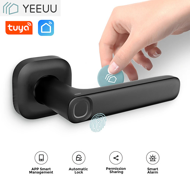 LITBest Aluminium alloy Fingerprint Lock Smart Home Security System Fingerprint unlocking Household / Home / Apartment Security Door / Wooden Door (Unlocking Mode Fingerprint)