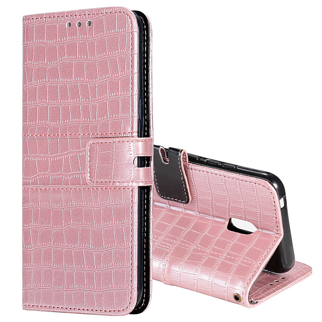 Case For Nokia Nokia 3.2 2.2 7.2 Card Holder Flip Magnetic Full Body Cases Solid Colored PU Leather TPU CROCODILE PRINT