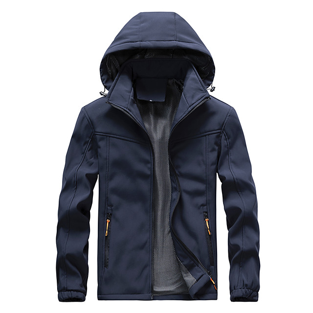 Men's Hiking Jacket Hiking Windbreaker Winter Outdoor Thermal / Warm Waterproof Windproof Breathable Top Camping / Hiking Hunting Fishing Black / Blue / Green / Quick Dry / Quick Dry