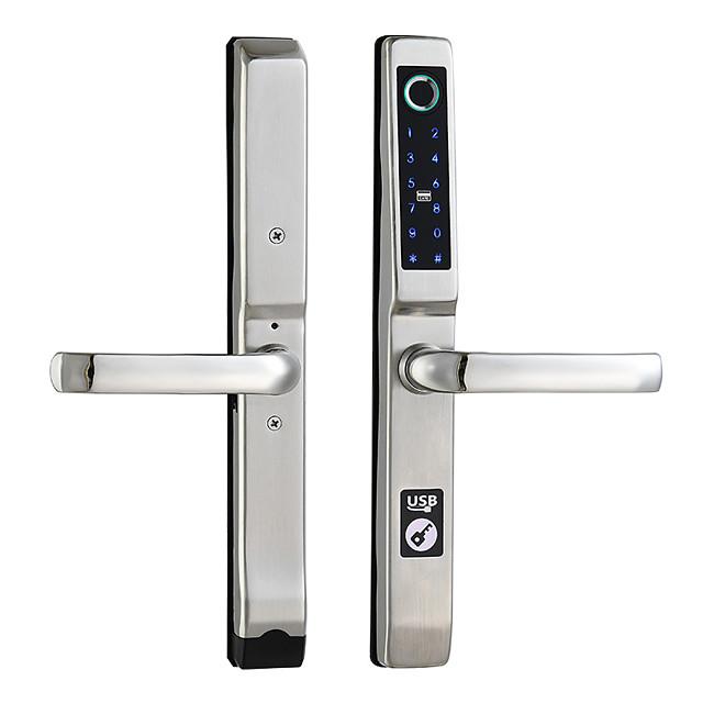 Bridge Broken Aluminum Fingerprint Lock Multi Function Steel Plastic Door Glass Door Password Lock Stainless Steel Intelligent Fingerprint Lock