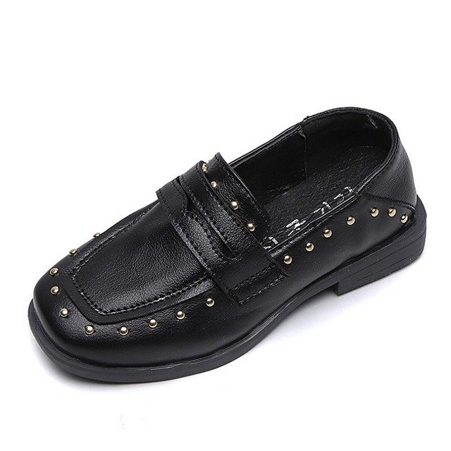 Girls' Comfort PU Loafers & Slip-Ons Little Kids(4-7ys) Black / Brown Summer