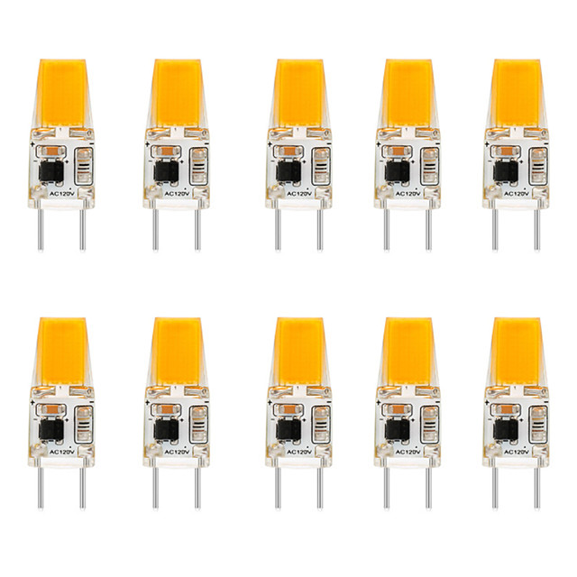 10pcs 6 W LED Silicone bulb Bi-pin Lights 3000 lm G8 T 1 LED Beads COB Dimmable Warm White White No Electric Shock Crystal Chandeliers Wall Lamp Light Source110-120 V
