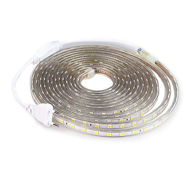3M SMD 5050 LED Strip light Waterproof 220V 5050 LED Strip Lights Diode Tape Holiday Decoration Lamp LED String Ribbon 60LEDs/M With EU Plug