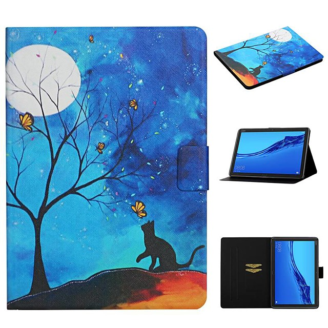 Case For Huawei Huawei Mediapad T5 10 / Huawei Mediapad M5 Lite 10 Card Holder / with Stand / Pattern Full Body Cases PU Leather