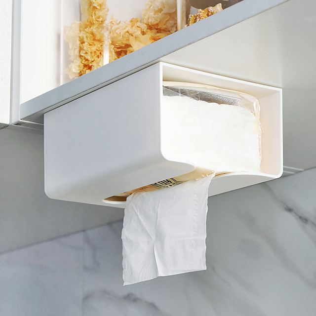 Punch-free Kitchen Paper Storage Box Paper Box Wall-mounted Paper Towel Holder Toilet Tissue Box