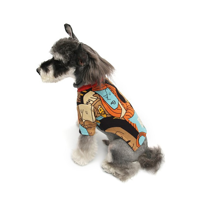 Dog Shirt / T-Shirt Pajamas Color Block Casual / Sporty Cute Sports Casual / Daily Dog Clothes Warm Black Costume Cotton S M L XL XXL