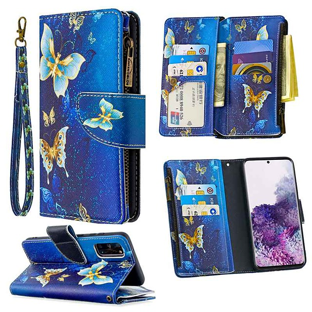 Case For Samsung Galaxy S20 Ultra S10E S9 Plus Wallet Card Holder with Stand Full Body Cases Butterfly PU Leather For Galaxy A10E A20E A10 A20 A30 A40 A50 A70