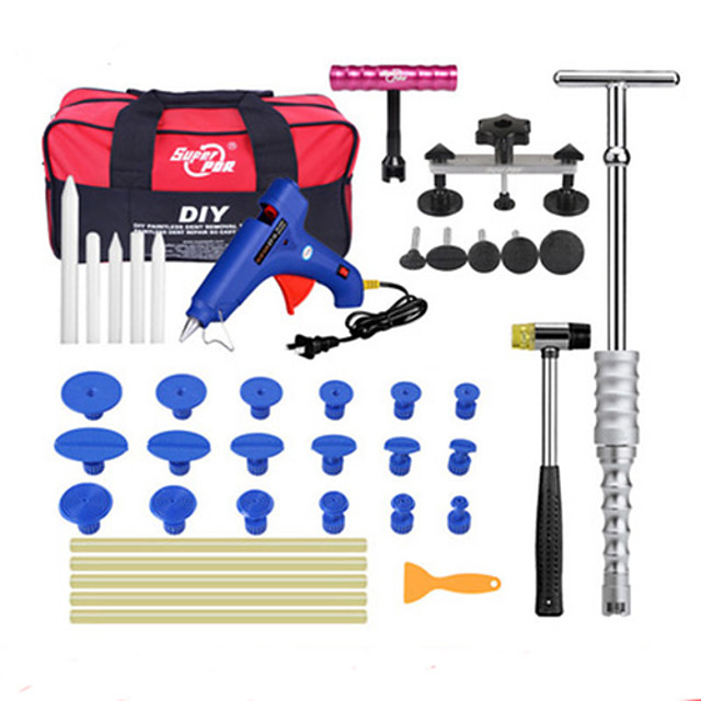 Super PDR-G-324 Slide Hammer Rubber Hammer Glue Gun Glue Sticks Tap Down Pen LED Line Board Car Body Dent Damage Repair Tools Auto