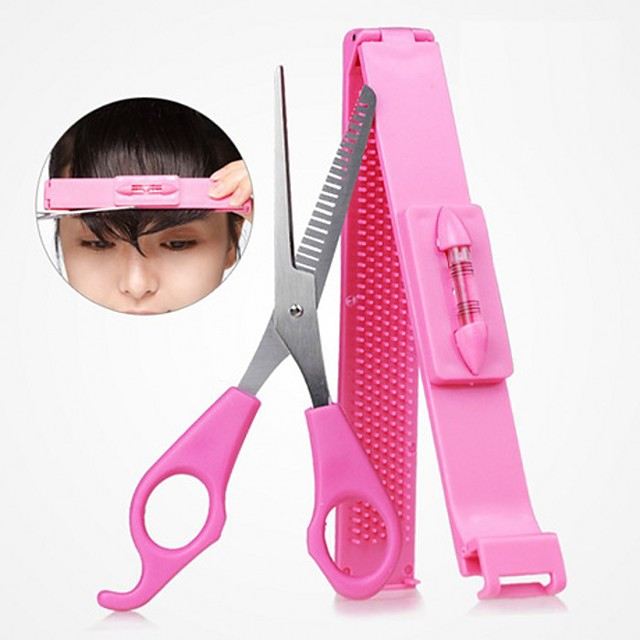 DIY Women Hair Trimmer Fringe Cut Tool Clipper Comb Guide For Cute Bang Level Ruler Accessories