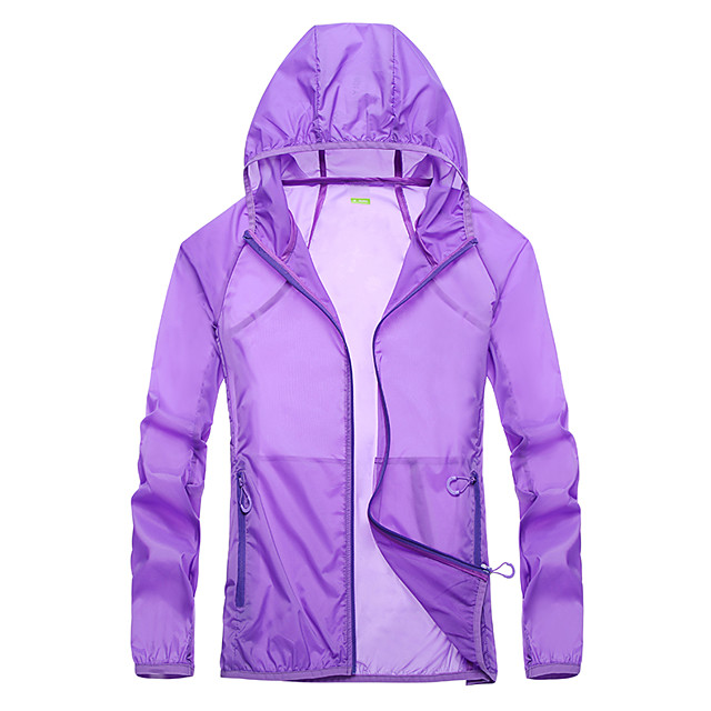 Women's Hiking Jacket Hiking Windbreaker Summer Outdoor Windproof Sunscreen Breathable Quick Dry Jacket Top Camping / Hiking Fishing Climbing White / Dark Purple / Pink / Light Grey / Rose Red