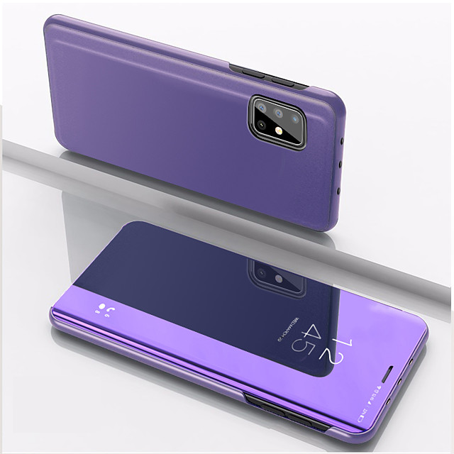 Case For Samsung Galaxy Galaxy A11 A10S A20S M30S A51 A31 A71 A11 M11 A21S A51 5G A31 5G Shockproof  Mirror Full Body Cases Solid Colored PC