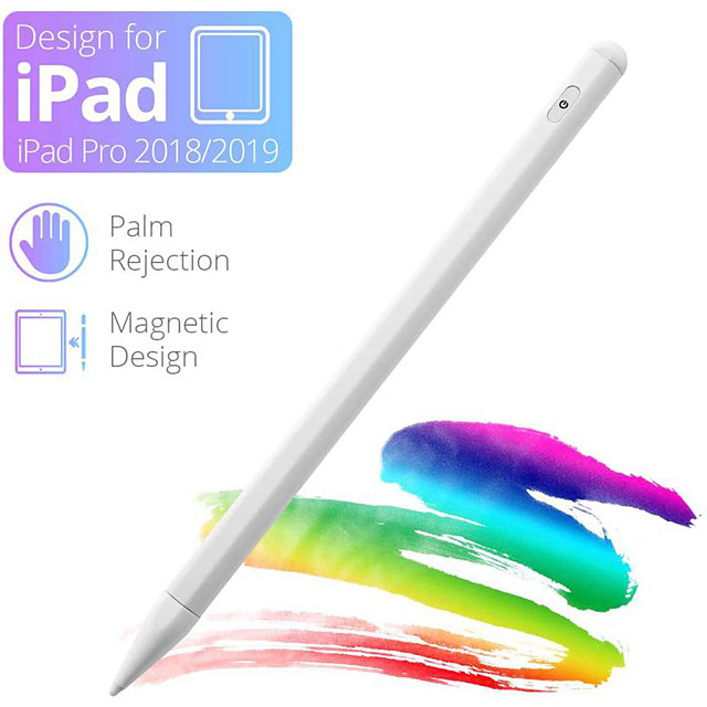 Stylus Pen for iPad Pencil with Palm Rejection Active Pencil with Magnetic Design Compatible with Apple iPad 6th 7th Gen/iPad Pro 3rd Gen/iPad Mini 5th Gen/iPad Air 3rd Gen Rechargeable Digital Pencil
